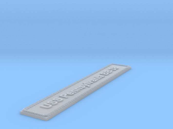 Nameplate: USS Pennsylvania BB-38 3d printed
