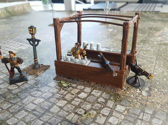 4x Victorian Street Light 3d printed The Streetlight used for D&D