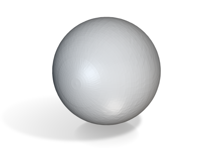 This is a perfect sphere. Completely and mathemati 3d printed