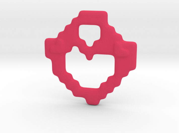 Blocky Heart Pendant 3d printed