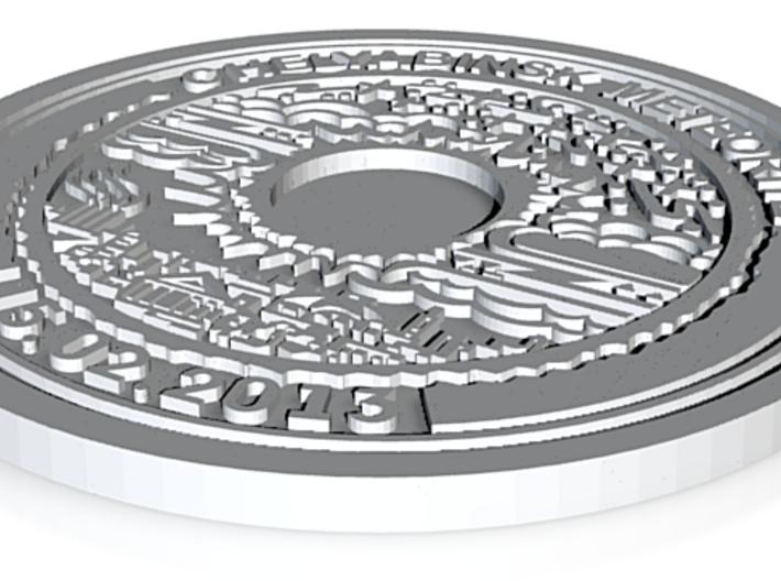 Chelyabinsk Olympic Meteorite Coin 3d printed