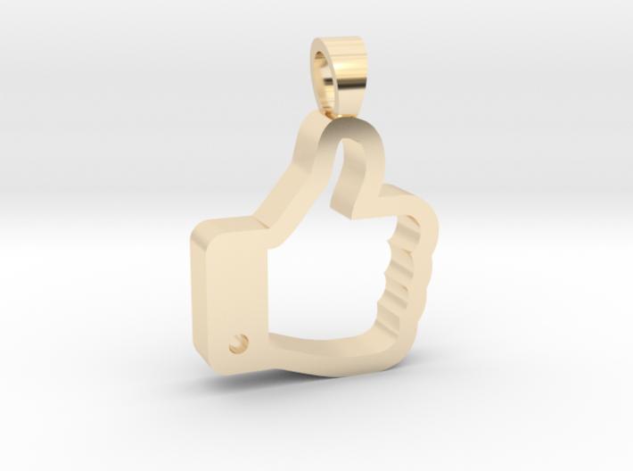 Like it [pendant] 3d printed