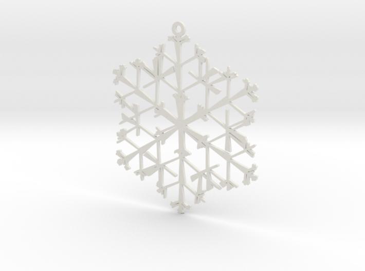 Organic Snowflake Ornament - Canada 3d printed