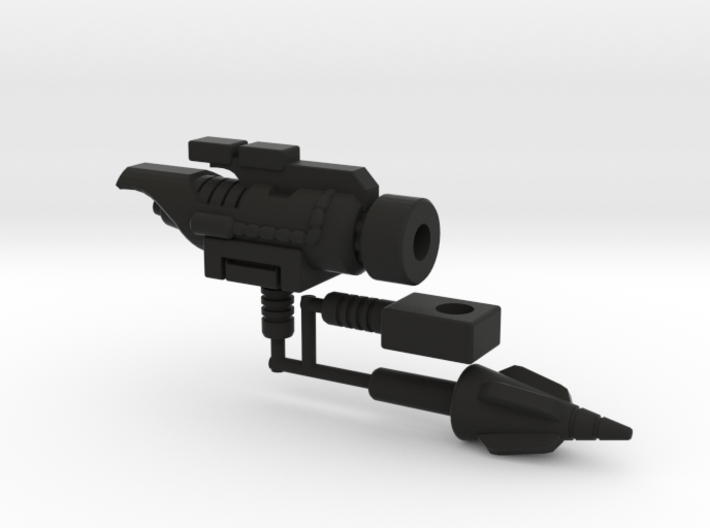 Dinobot Slug's Cannon, 5mm (PotP) 3d printed