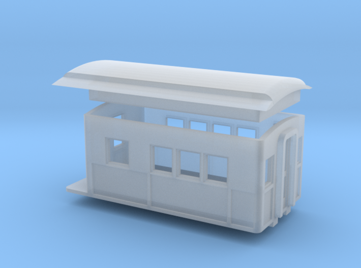 N Scale Piker 20 foot Heavyweight Observation Car 3d printed