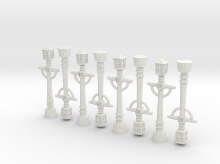 8x Victorian Streetlights 3d printed