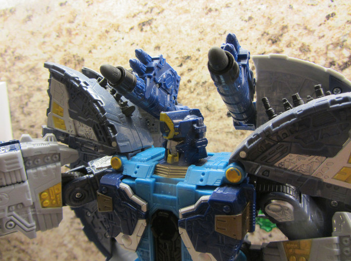 Transformers Primus Missile Component 3d printed Black Premium Strong & Flexible inserted in Primus (Supreme 2006) cannons