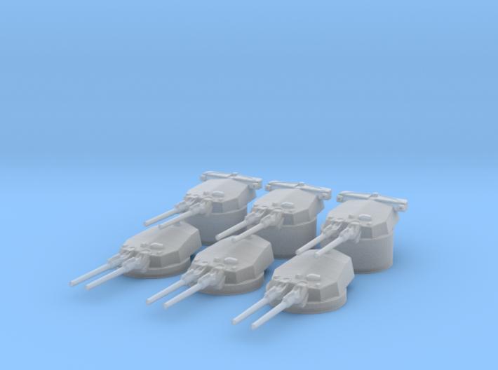 1/600 IJN Vickers 14 inch/45 Naval Gun Set  3d printed