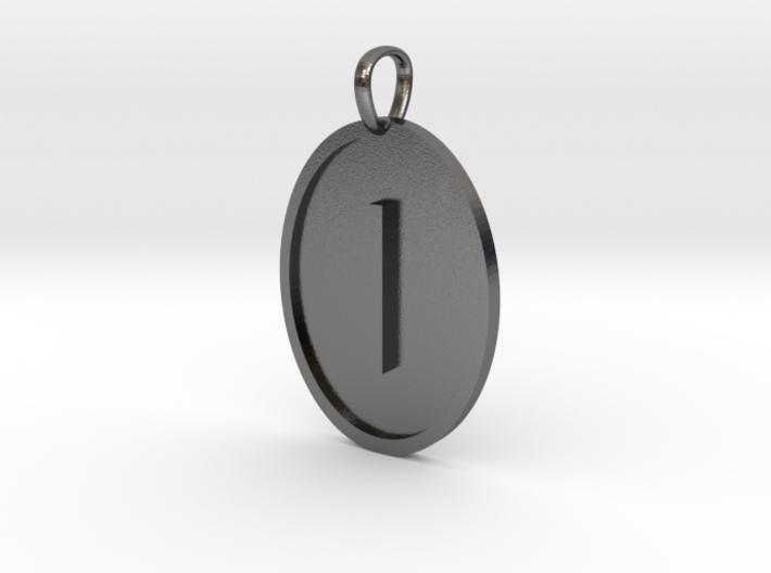 Iota Medallion 3d printed
