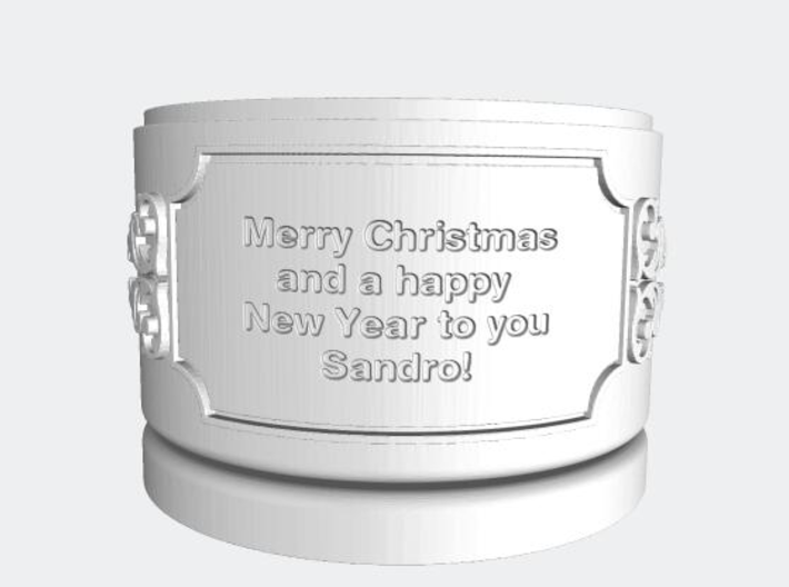 Gift Box big with Stars, Ornament & Label No. 3 S 3d printed Text example with blanks.