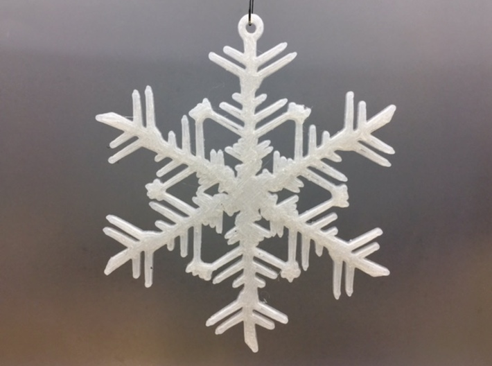 "Organic Snowflake Ornaments - Stack of 6 3d printed 3D printed FDM prototype of the ""Russia"" snowflake ornament"