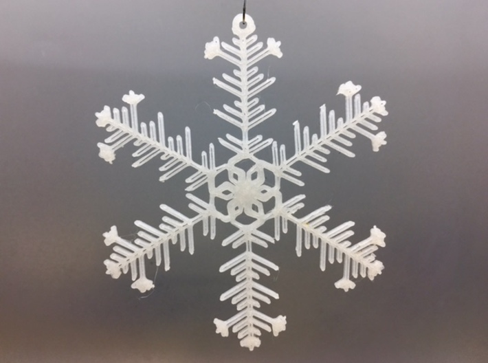 """Organic Snowflake Ornaments - Stack of 6 3d printed 3D printed FDM prototype of the """"Iceland"""" ornament"""
