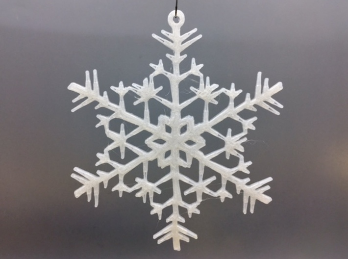 "Organic Snowflake Ornament - Estonia 3d printed 3D printed FDM prototype of the ""Estonia"" ornament"