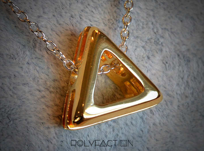 Embrace ::: Triangle Pendant ::: v.01 3d printed