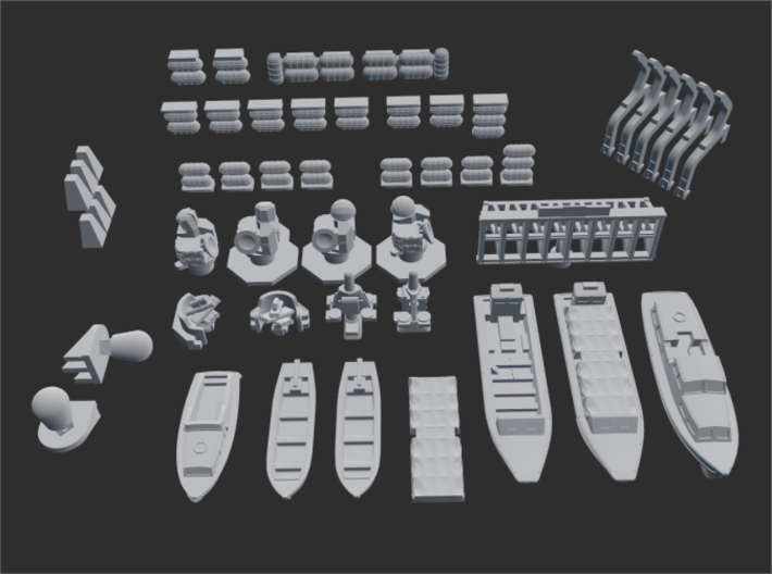 HMS Tiger Command Helicopter Cruiser C20 1/700 3d printed The Parts