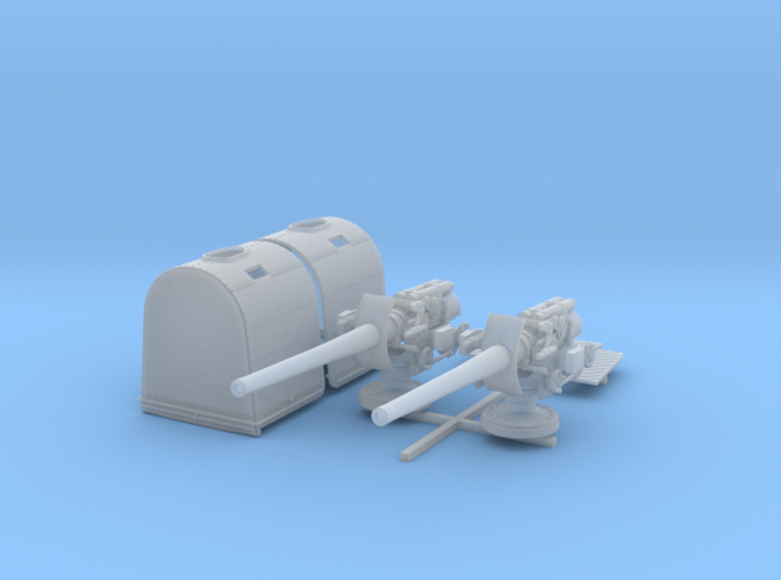"1/144 Queen Elizabeth Class 6"" BL Mk XII Deck Guns 3d printed 1/144 Queen Elizabeth Class 6"" BL Mk XII Deck Guns"