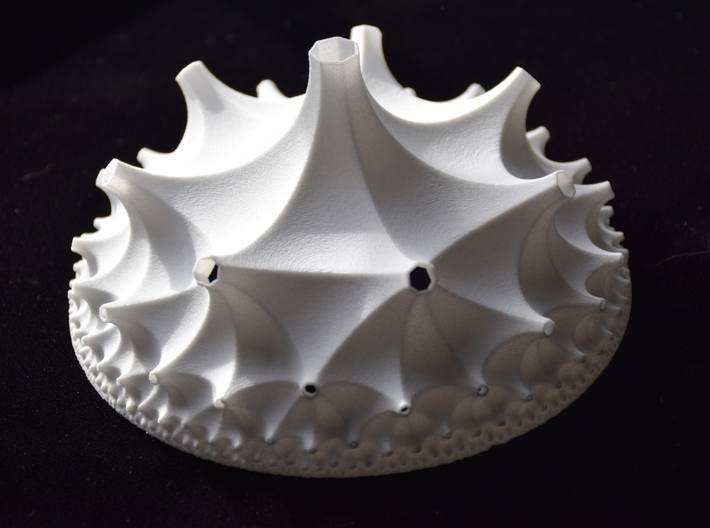 Cell of a {3,7,3} Honeycomb 3d printed