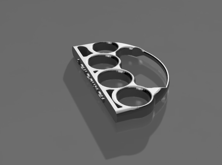 Chic Brass Knuckles with Custom Lettering 3d printed