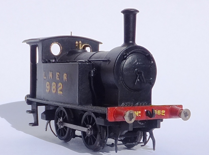 Y7 class 040T in 00 scale NER / LNER / BR / NCB 3d printed Finished Loco - Natural Light. Not bad for 4mm/ft