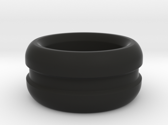 Curved Chunky Ring 3d printed