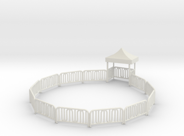 Dive Bomber Fence with entrance gate 3d printed