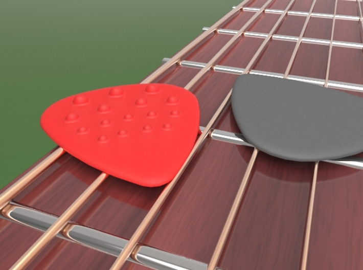 Dimple Guitar Pick - 1 Sided 3d printed Standard size guitar pick with progressive