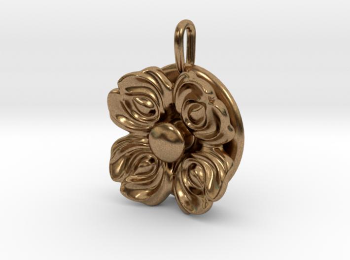 Floral Spinner Pendant 3d printed