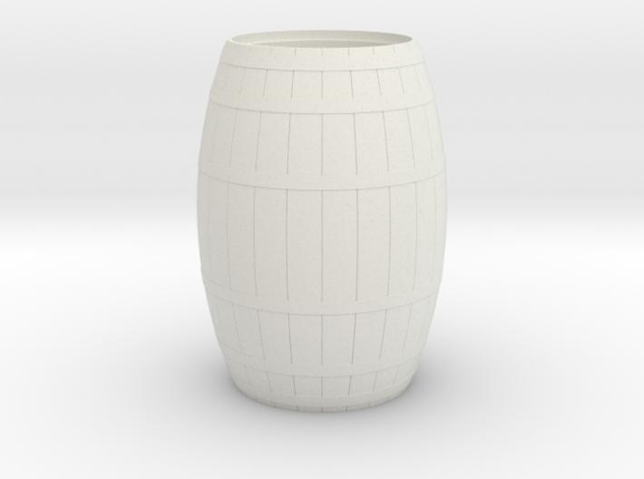18th Century Barrel-Open (21hx15dia) 1/24 3d printed