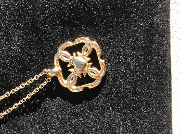 """HEART PENDANT 3d printed with 20"""" 14k gold chain available here (not included)"""