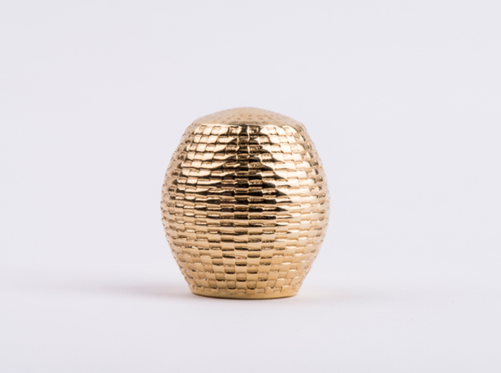 Beekeeper Chess Collection: Rook 3d printed Polished Brass