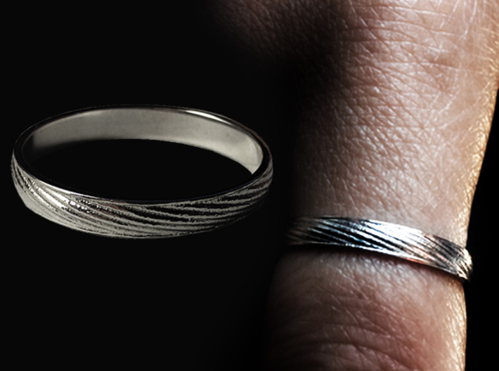 SculptedTwisted Ring 3d printed