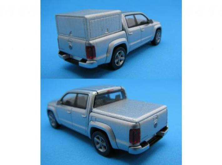 HO/1:87 Pickup cap + cover set for VW Amarok 3d printed Painted cap + cover (in FUD) on Wiking VW Amarok
