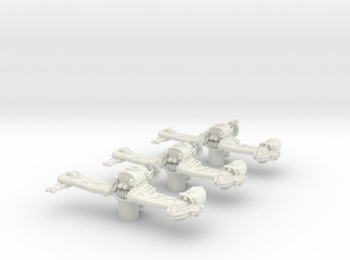 3x V-4X-D Ski Speeder (1/270) 3d printed
