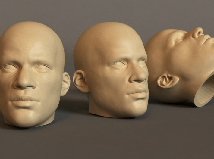 Generic Male Head 1/6 scale figure - Variant 04 3d printed