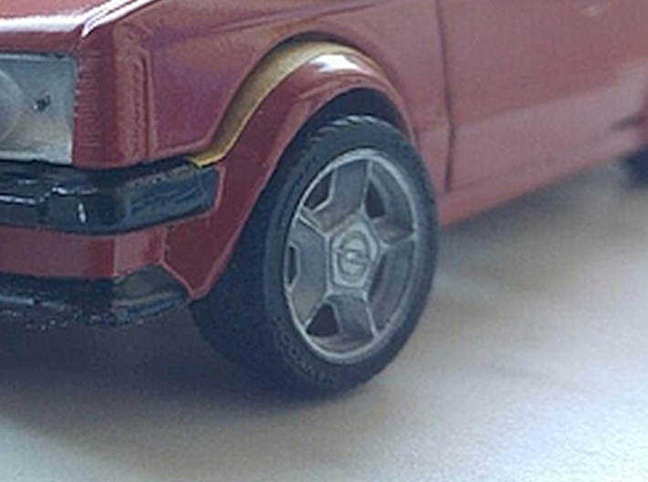"""1/24 Rim Set 16"""" ATS Opel 3d printed Picture shows painted sample"""