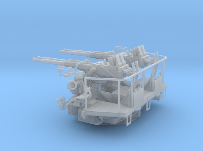 1/48 40mm Bofors Quad Mount USN WWII ships 3d printed