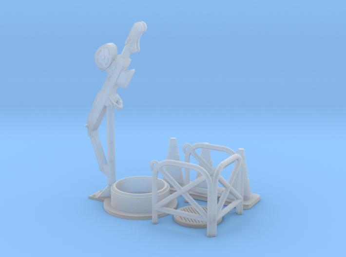 Manhole davit crane 02. 1:56 scale 3d printed