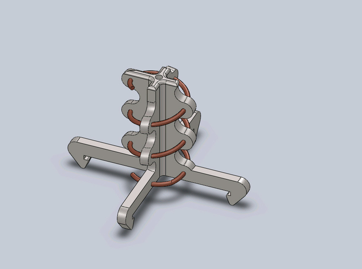5.8ghz Helical Antenne 3 Turn RHCP 3d printed solidworks render