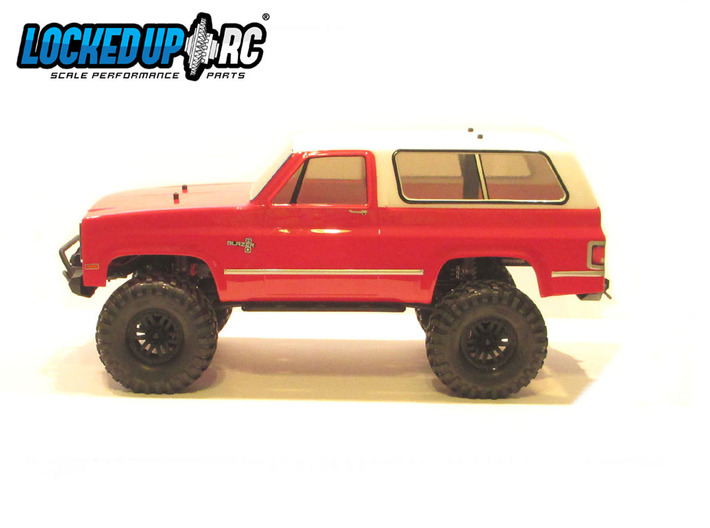 Traxxas TRX-4- Ascender K5 Blazer Rear Conversion 3d printed Front & Rear (front not included) conversion installed. Defender wheelbase