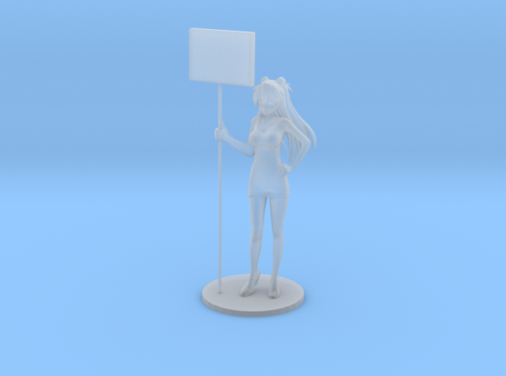 1/48 Show Girl Holding Board [Cust.] 3d printed