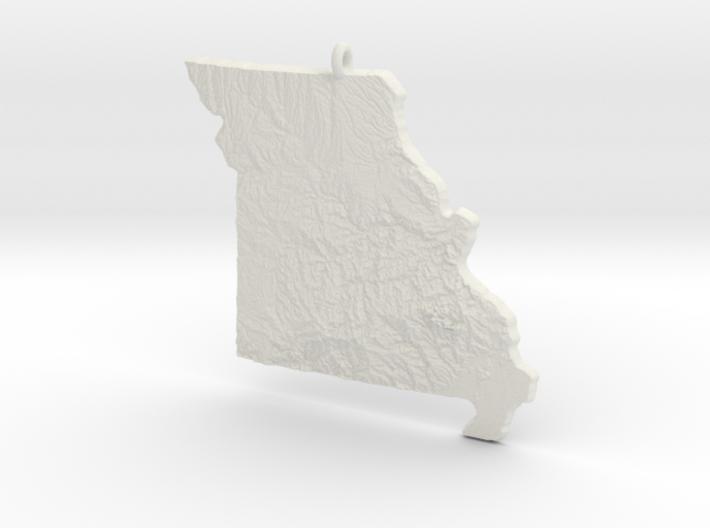 Missouri Christmas Ornament 3d printed