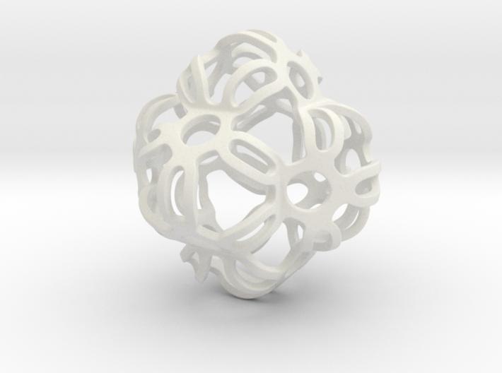Symmetrically Deformed Cuboid 3d printed