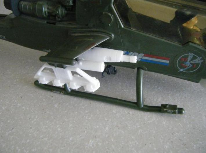 Dragonfly/Locust Small Rocket Pod 3d printed Description