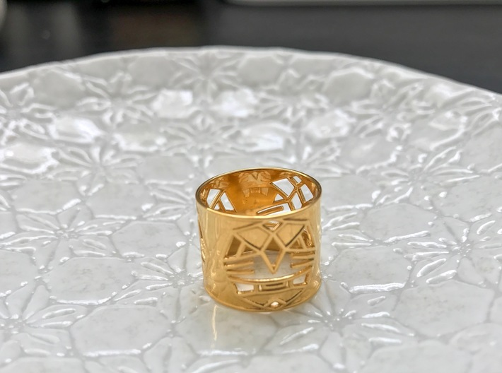 3 Fearless Warriors ring size 6 (M) 3d printed