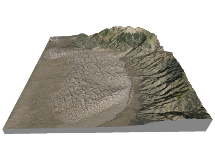 """Great Sand Dunes National Park Map: 6""""x6"""" 3d printed"""