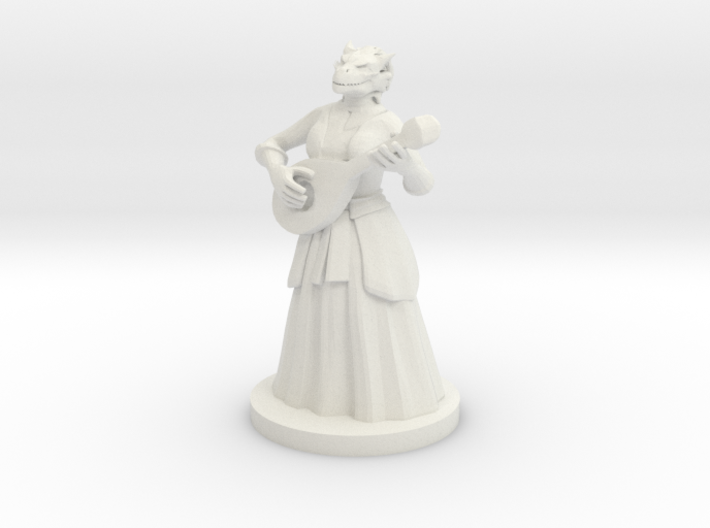 Dragonborn Female Bard 3d printed