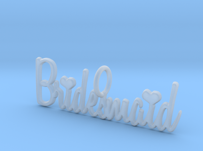 Bridesmaid Heart Pendant 3d printed