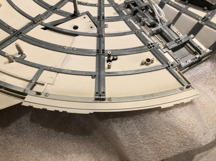 DeAgo Millennium Falcon sheets for side panels mod 3d printed Sheet in place, painted FUD version