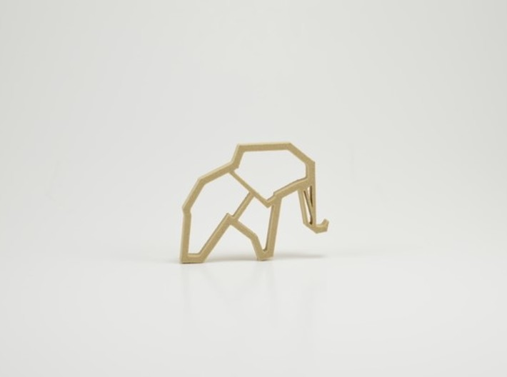 Elephant Necklace 3d printed