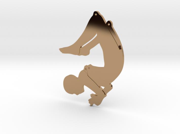 Scorpion Pose Earring 3d printed